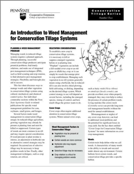 An Introduction to Weed Management for Conservation Tillage Systems