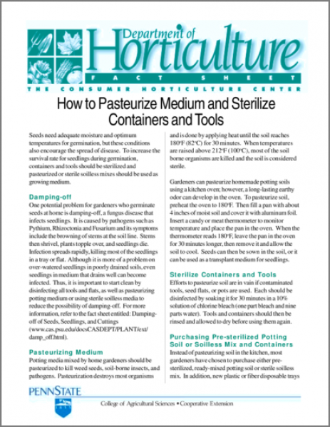 How to Pasteurize Medium and Sterilize Containers and Tools