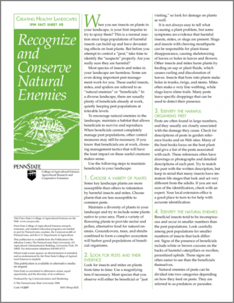 Recognize and Conserve Natural Enemies