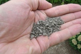 Figure 1. Typical calcitic limestone sand used for direct application to streams.