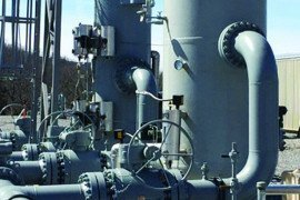 Figure 1. A separator filters out liquids, solids, and other particulate matter that may be in the gas stream. Photo courtesy of the National Fuel Gas Midstream Corporation