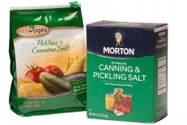 Canning salt or pickling salt is pure salt, no additives. This type of salt is the best choice for canning, pickling, and sauerkraut.