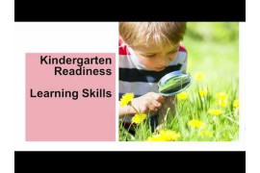 Kindergarten Readiness: Learning Skills