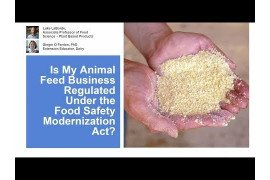 FSMA's Preventive Controls for Animal Foods Rule