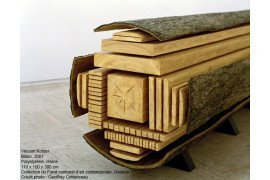 A rendering of a log sawn into board products. http://www.vincentkohler.ch/billon.html