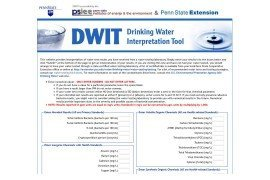 A screenshot of the DWIT tool
