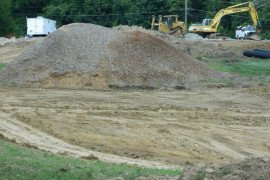 These wood chips, left over from maintenance operations, could be a feedstock for biochar production.