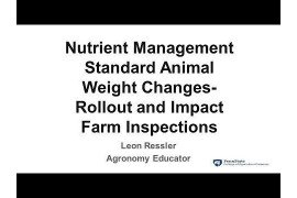 Nutrient Management Standard Animal Weight Changes: Rollout and Impact, Farm Inspections