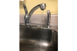 Water faucets are one of the places homeowners may notice the effects of hard water (Photo: Susan Boser, Penn State)