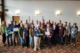 Master Watershed Stewards at the Statewide Watershed Conference in February. Photo: Brad Kunsman, Penn State