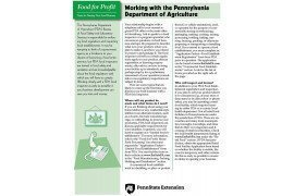 Food for Profit: Working with the Pennsylvania Department of Agriculture