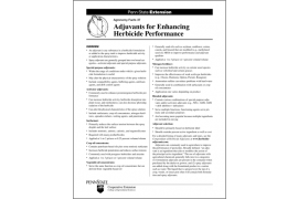 Adjuvants for Enhancing Herbicide Performance