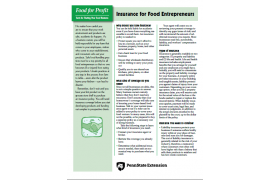 Food for Profit: Insurance for Food Entrepreneurs
