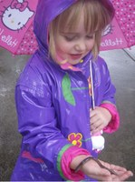 Playing outside in wet weather