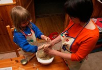 Making cookies together
