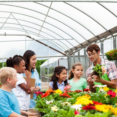 School age outing to greenhouse