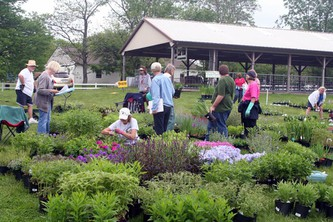 The Montgomery County Master Gardener Annual Plant sale is held the Saturday after Mother's Day in May.